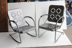 Mid Century Metal Garden Chairs - 687036