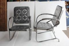Mid Century Metal Garden Chairs - 687037