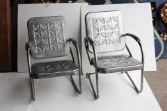 Mid Century Metal Garden Chairs - 687038
