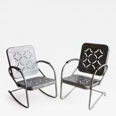 Mid Century Metal Garden Chairs - 687481