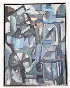 Mid Century Modern Abstract Oil on Canvas - 1445140