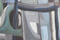 Mid Century Modern Abstract Oil on Canvas - 1445141