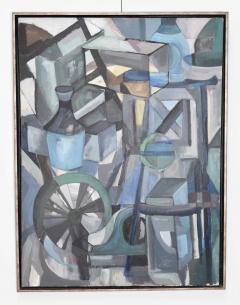 Mid Century Modern Abstract Oil on Canvas - 1445143