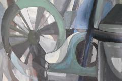 Mid Century Modern Abstract Oil on Canvas - 1445144