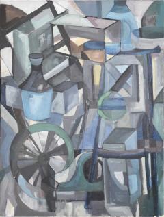 Mid Century Modern Abstract Oil on Canvas - 1446350