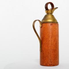 Mid Century Modern Aldo Tura Teak Wood and Brass Italian Pitcher - 1361613