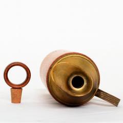 Mid Century Modern Aldo Tura Teak Wood and Brass Italian Pitcher - 1361615
