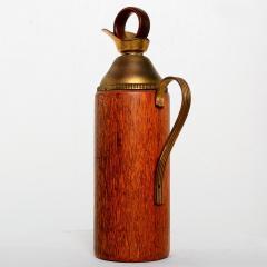 Mid Century Modern Aldo Tura Teak Wood and Brass Italian Pitcher - 1361616