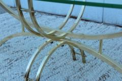 Mid Century Modern Brass And Glass Oval Coffee Table - 1277202