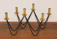 Mid Century Modern Brass And Iron Candlesticks - 1193383