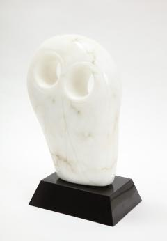Mid Century Modern Carrara Marble Abstract Owl Sculpture - 2057434