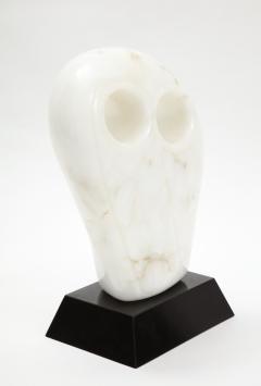 Mid Century Modern Carrara Marble Abstract Owl Sculpture - 2057439