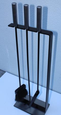 mid century modern chrome fireplace tools rh incollect com modern fireplace tools uk modern fireplace tools australia