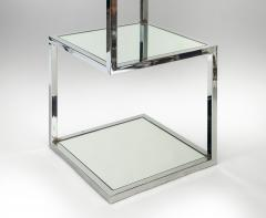 Mid Century Modern Chrome and Mirror Glass 4 Shelf Etagere - 989788