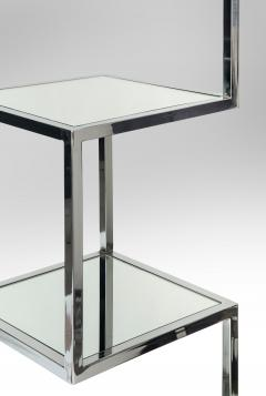 Mid Century Modern Chrome and Mirror Glass 4 Shelf Etagere - 989789