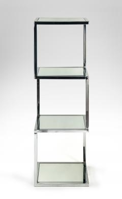 Mid Century Modern Chrome and Mirror Glass 4 Shelf Etagere - 989790