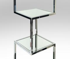 Mid Century Modern Chrome and Mirror Glass 4 Shelf Etagere - 989792