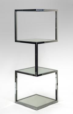 Mid Century Modern Chrome and Mirror Glass 4 Shelf Etagere - 989793