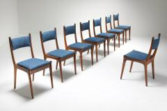Mid Century Modern Dining Chairs in Weng and Cherry 1960s - 1585583
