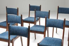 Mid Century Modern Dining Chairs in Weng and Cherry 1960s - 1585587