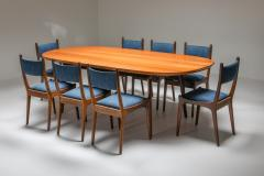 Mid Century Modern Dining Table in Weng and Cherry 1960s - 1585546