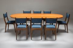 Mid Century Modern Dining Table in Weng and Cherry 1960s - 1585550