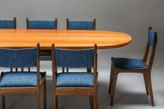 Mid Century Modern Dining Table in Weng and Cherry 1960s - 1585551