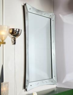 Mid Century Modern Etched and Beveled Venetian Mirror with Dovetailed Corners - 2143437