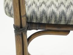 Mid Century Modern French Riviera Bamboo and brass Armchairs 1960s - 1555619