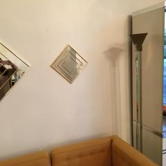 Mid Century Modern Gold Tone Multi Border S 3 Diamond Shaped Wall Mirrors - 605307