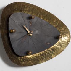 Mid Century Modern HASTE Wall Clock Bronze 1950s - 1239219
