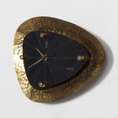 Mid Century Modern HASTE Wall Clock Bronze 1950s - 1239220