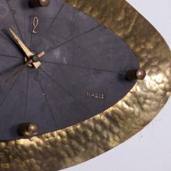 Mid Century Modern HASTE Wall Clock Bronze 1950s - 1239221