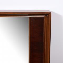 Mid Century Modern Hand Rubbed Walnut Rectilinear Wall Mirror - 2143361