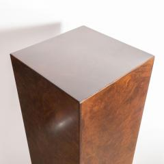 Mid Century Modern Handrubbed Bookmatched Burled Walnut Pedestal - 1560278
