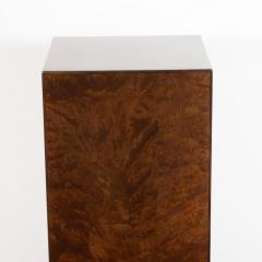 Mid Century Modern Handrubbed Bookmatched Burled Walnut Pedestal - 1560279