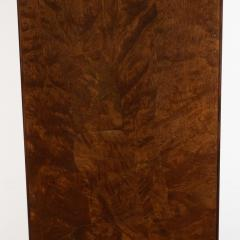 Mid Century Modern Handrubbed Bookmatched Burled Walnut Pedestal - 1560282