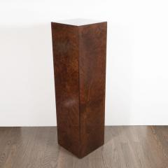 Mid Century Modern Handrubbed Bookmatched Burled Walnut Pedestal - 1560284