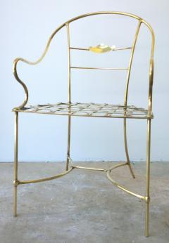 Mid Century Modern Italian Brass Artists Designers Decorative Armchair - 1008542