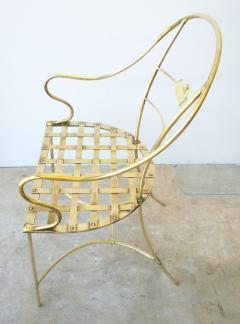 Mid Century Modern Italian Brass Artists Designers Decorative Armchair - 1008543