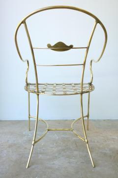 Mid Century Modern Italian Brass Artists Designers Decorative Armchair - 1008545