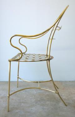 Mid Century Modern Italian Brass Artists Designers Decorative Armchair - 1008546