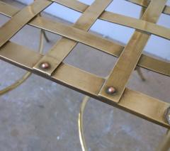 Mid Century Modern Italian Brass Artists Designers Decorative Armchair - 1008547