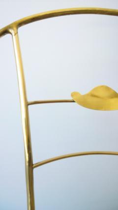 Mid Century Modern Italian Brass Artists Designers Decorative Armchair - 1008548