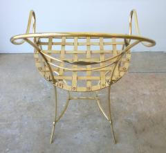 Mid Century Modern Italian Brass Artists Designers Decorative Armchair - 1008549