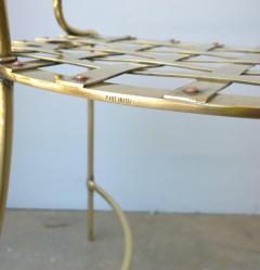Mid Century Modern Italian Brass Artists Designers Decorative Armchair - 1008552