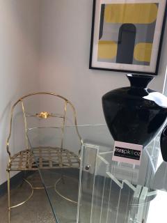 Mid Century Modern Italian Brass Artists Designers Decorative Armchair - 1008617