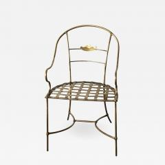 Mid Century Modern Italian Brass Artists Designers Decorative Armchair - 1009136
