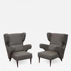 Mid Century Modern Italian Large Lounge Chairs - 1774809