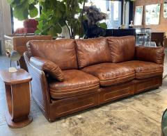 Mid Century Modern Italian Leather Sofa 1960s - 1253532